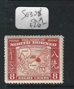 NORTH BORNEO  (P2102B)  8C  MAP    SG 308     MOG
