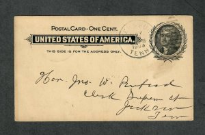 Tennessee Postal Stationery Cover Dyersburg May 1903