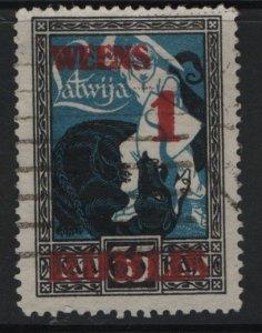 LATVIA, 91, USED, 1920-21, SURCHARGED
