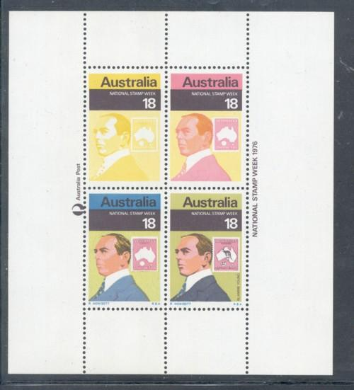 Australia Sc 648 1976 Stamp Week stamp sheet mint NH