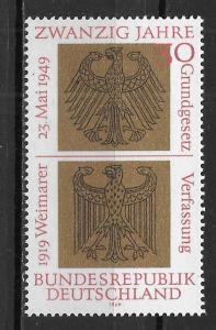 Germany, 998, Basic Law Single,**MNH**
