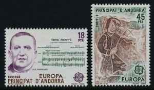 Andorra Sp 167-8 MNH EUROPA, Music, Musical Instruments