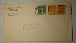 Canada Cover 1939 Slogan Cancel Clean Paint Beautify Montreal 1265 Coil Pair
