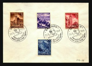 Germany SC# B194 - 197 on Salzburg Event Cover (Pre FDC?) - Z17162
