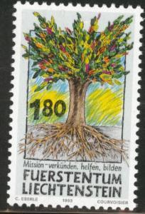 LIECHTENSTEIN Scott 1003 MNH** 1993 Missionary stamp CV$2.25