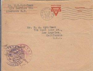 1919, APO 717, Air Service to Los Angeles, CA (M4839)