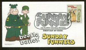 2010 Columbus Ohio - Sunday Funnies - beetle bailey - Fleetwood FDC
