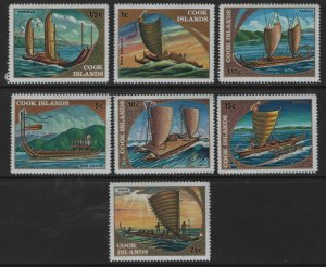 COOK  ISLANDS 357-363 MNH SOUTH PACIFIC SAILING SHIPS SET 1973