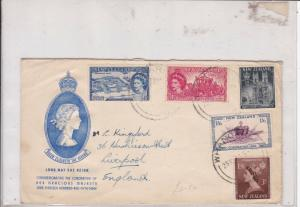 new zealand 1953 stamps cover ref 19924
