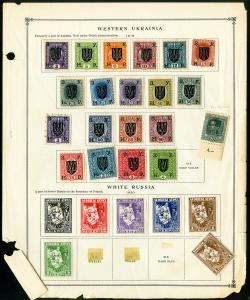 Western Ukraine 1919 Variety Collection of Over 50 Stamps