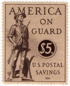 (I.B-CK) US Revenue : Postal Savings $5 (1941)