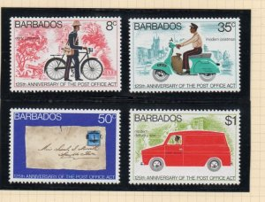 Barbados Sc 444-47 1976 Post Office Act stamp set used
