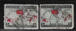 CANADA, 85-86,  USED, MAP