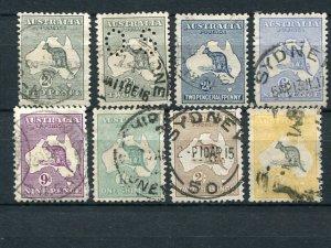 Australia  #38-44  Used  F-VF  Cat $778  - Lakeshore Philatelics