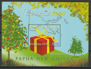 Papua New Guinea MNH S/S 1355 Christmas 2008 CV 8.00