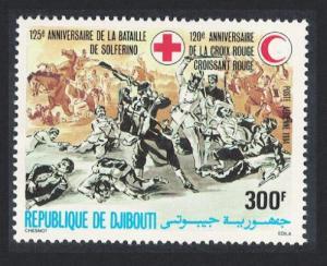 Djibouti 120th Anniversary of Red Cross 1v SG#924