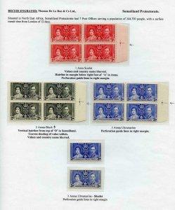 Somaliland Protectorate 1937 Coronation Page
