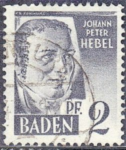 BADEN SC# 5N1 1947 GERMAN OCCUPATION STAMP   SEE SCAN