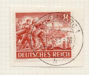 1944-45 GERMANY used in LUXEMBOURG Fine Used 8p. Postmark Piece 241805