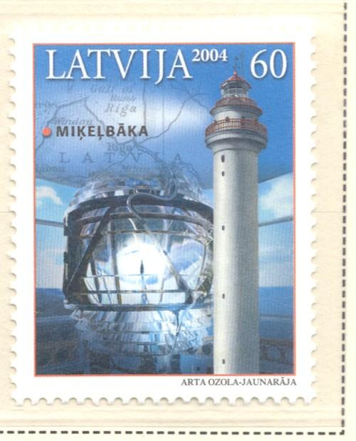 Latvia Sc 602 2004 Mikelbaba Lighthouse stamp mint NH