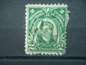 PHILIPPINES, US Admin, 1906, used 2c, Philippine Islands,  Scott 241