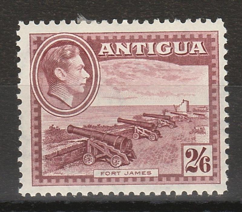 ANTIGUA 1938 KGVI FORT JAMES CANNON 2/6