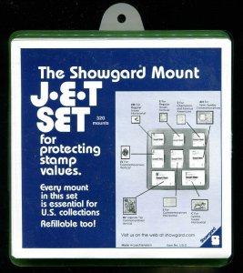 BLACK Showgard Mounts Variety JET SET Pack # US2 320 PRE CUT MOUNTS Black