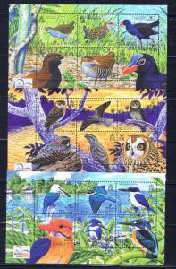 Solomon Is 983-85 MNH 2004 Birds Sheets