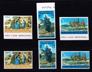 JORDAN Stamp 1966 Christmas, IMPERF AND PERF MNH/OG SET