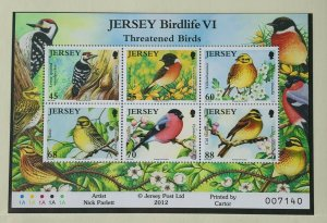 JE76) Jersey 2012 Threatened Birds M/S MUH