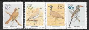 SOUTH WEST AFRICA SG499/502 1989 BIRDS OF SOUTH WEST AFRICA MNH