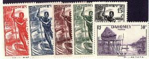 Dahomey 1941 Selection mh 113-17 & 119 scv $2.00 less 50%=$1.00 Buy it Now!!