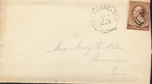 Us Delaware, Ia11/16/1885 2c para Anamosa, Ia 11/ 17/ 85W/ Content como Se Ve