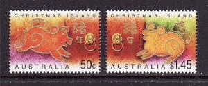 Christmas Is.-Sc#460-1-unused NH set-Chinese New Year of the Pig-2007-