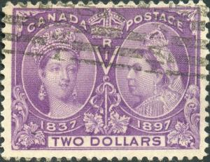 CANADA #62 VF USED LIGHT CANCEL CV $500.00 BN6341