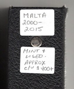 MALTA COLLECTION, 2000-2015 on Pages in a binder