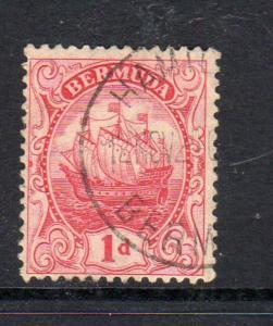 BERMUDA #83a    1926  1p CARAVEL    F-VF USED  b
