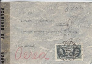 1942, Brazil to Lewiston, ID, Censored (C2906)