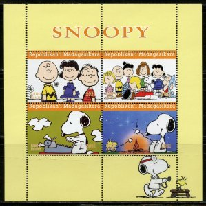 MADAGASCAR 2021 SNOOPY SHEET MINT NEVER HINGED