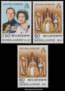 Bangladesh Scott 123-125 Mint never hinged.