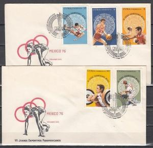 Caribbean Area, Scott cat. 1997-2001. Pan American Games on 2 First day covers.