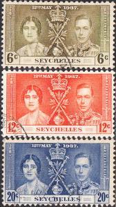 Seychelles  #122-124 Used  Set