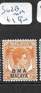 MALAYA  BMA   (P2302B)  KGVI 2C  SG 2B   MOG