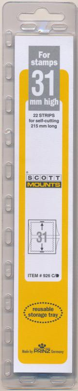 Prinz Scott Stamp Mount 31/215 CLEAR Background Pack of 22