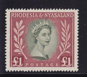 Rhodesia & Nyasaland Scott # 155 VF OG lightly hinged scv $ 43 ! see pic !