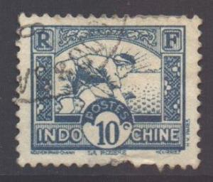 Indo-China SG182, 1931 Worker in Rice Field 10c used