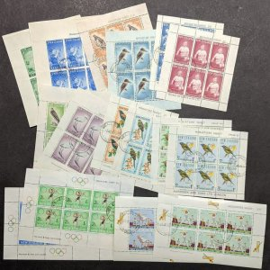 EDW1949SELL : NEW ZEALAND 1958-69 Collection of 8 Diff Cplt sets Miniature shts