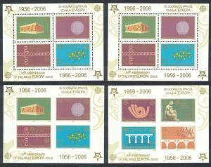 Serbia 50th Anniversary of Europa CEPT stamps 4 MSs SG#MS140 CV£20+