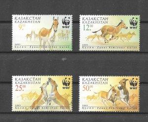 Kazakhstan MNH Set Wild Horses WWF 2001
