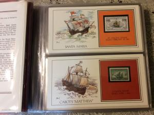 Worldwide Collection of 39 Cachet Cards,Ships,Sailing ships Fine inSpecial Album